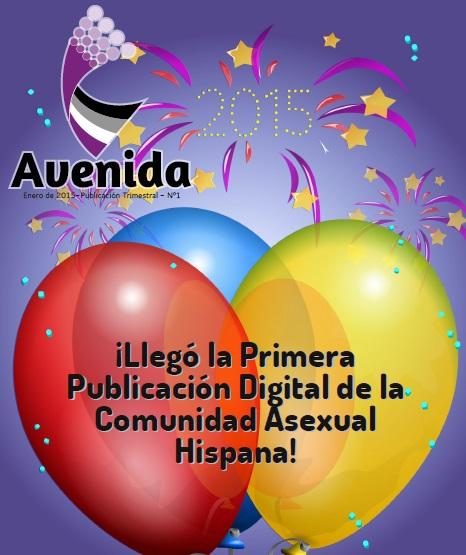 Portada de Avenida, revista asexual hispana